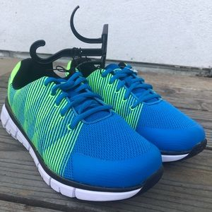 NWT Athletic Blue Green Tennis Shoes